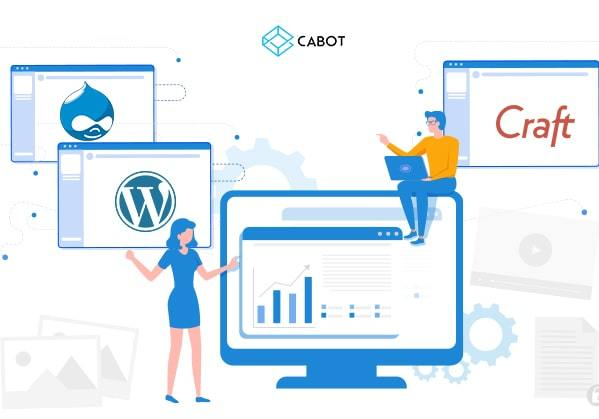 a comparison between top cms for website development image