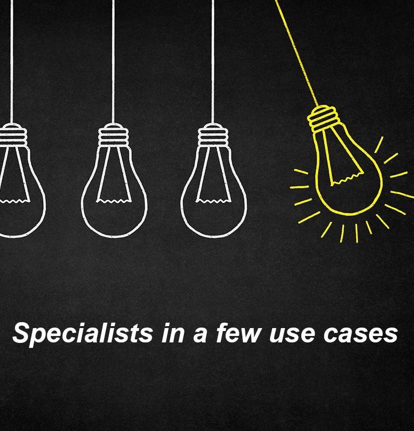 MVP development - Specialist in a few use cases