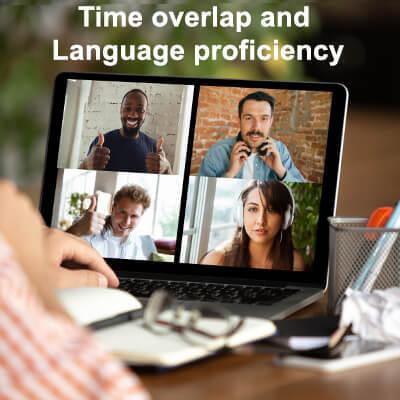 Time overlap and language proficiency - Nearshore development